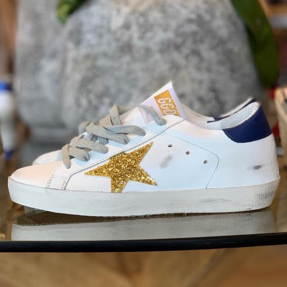 fb9a32b43607 Golden Goose Shoes | Nib Superstar Ss 19 Bluegold 39 | Poshmark